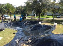 Impermeabilização Lago Artificial