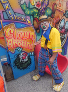 Clown Squealin on the Square.JPG