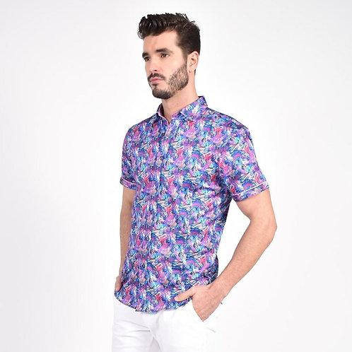 Flashback Multi-Color Print Shirt