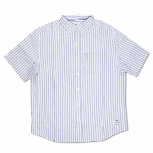 Seersucker Button Up Shirt (Lavender)