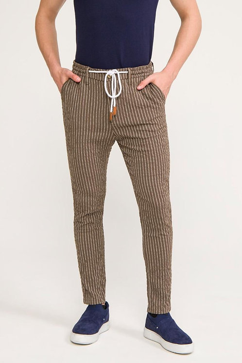 Lounging Pinstriped