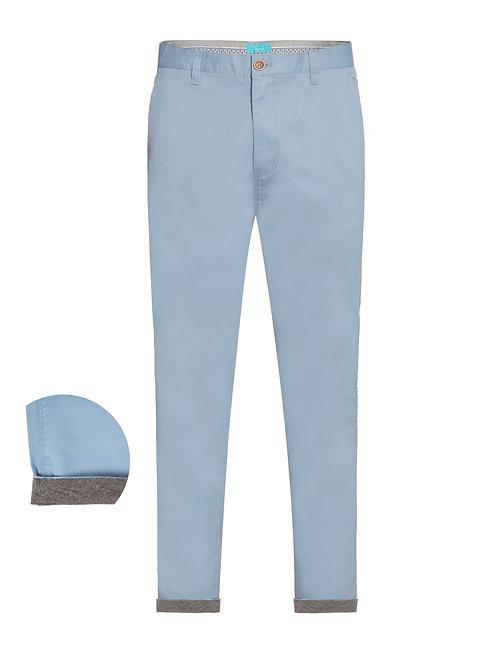 Cotton Stretch Chino Sky Blue