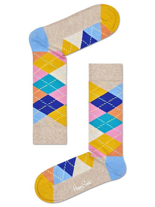 Pastel Argyle Sock