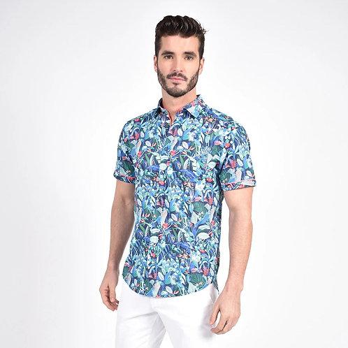 Brazilian Rain Forest Print Fitted Shirt