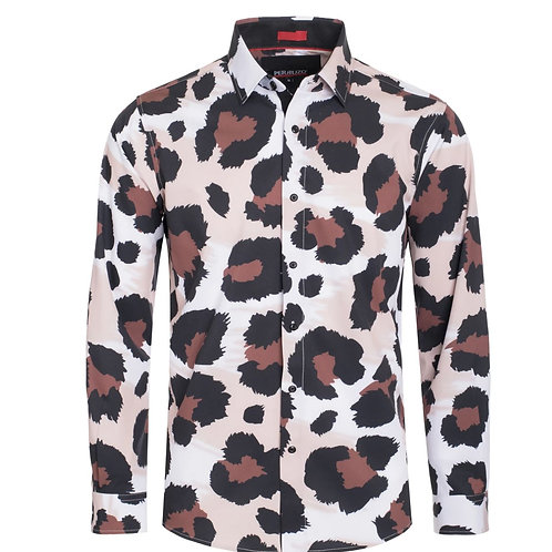 Brown Cheetah Digital Printed Shirt