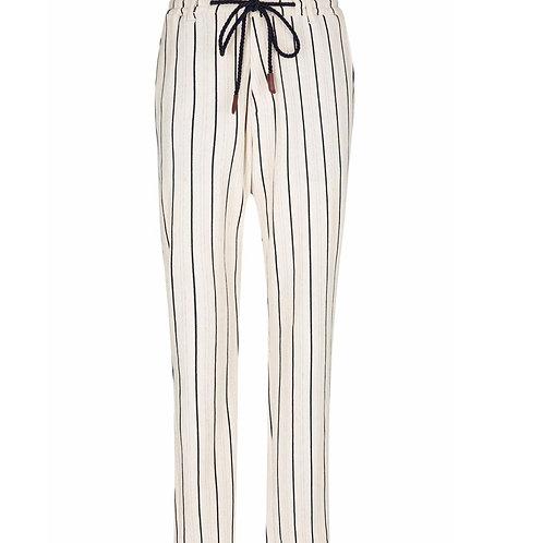 Striped Nautical Trousers (Stone)