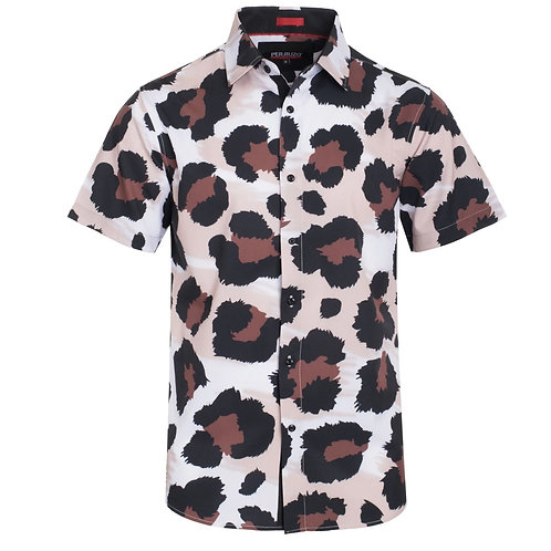 Large Cheetah Print Stretch Shirt