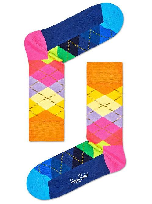 Pop A Color Argyle Sock