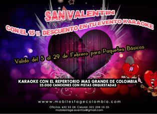 San Valentin con el 15% Descuento en TU EVENTO KARAOKE