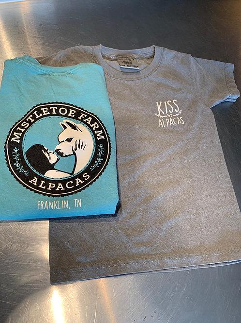 Comfy kids shirts seafoam & gray