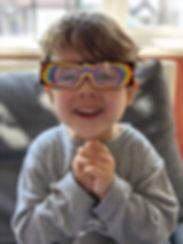 Sam and his Rainbow glasses