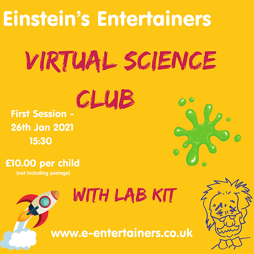 Virtual Science Club 1st session 26/01/2021-15:30 Colour & Slime