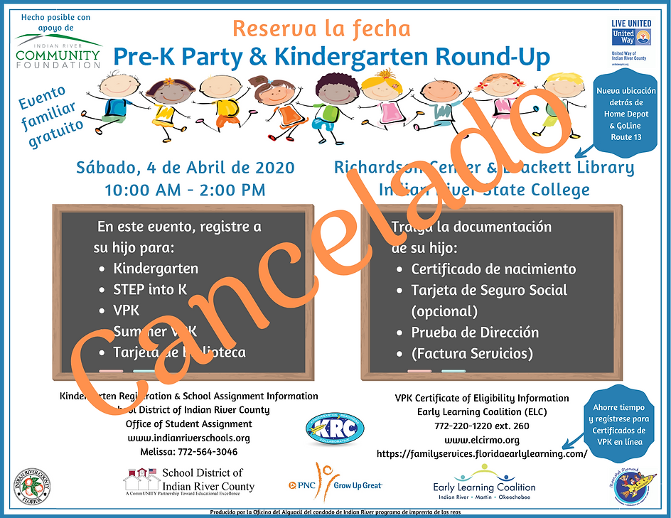 Cancelado _ Spanish 2020 Pre-K Party & K
