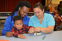 1 Families learn through play during a K