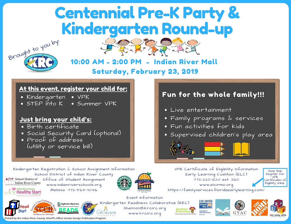 2019 Pre-K Party & Kindergarten Round-up