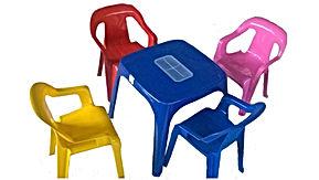 cadeiras e mesas plásticas infantis / aluguel - locação