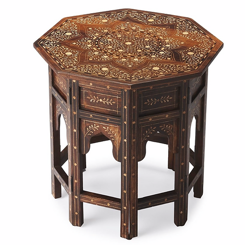 Anglo- Indian Table with Bone Inlay