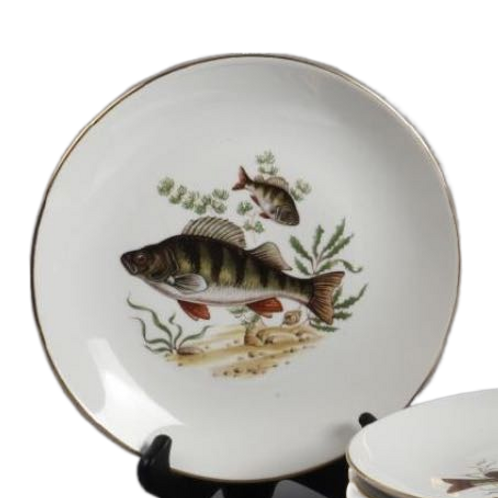 Set of  6 Fish Plates