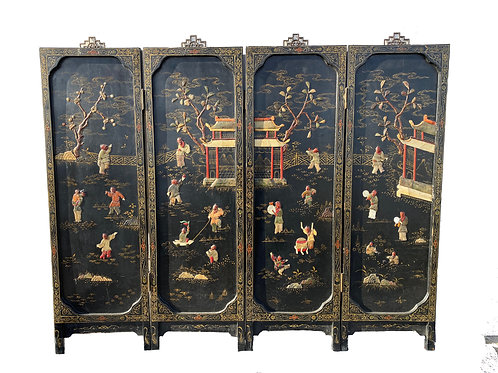 Low Four Panel Chinese Screen