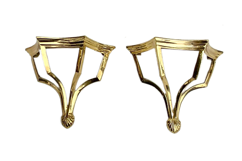 Brass Vintage Wall Sconce Pair