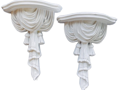 Vintage White Wall Sconces Pair