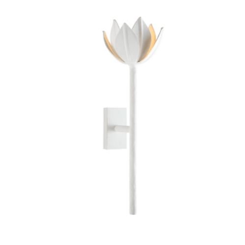 Floral Lighted Wall Sconce