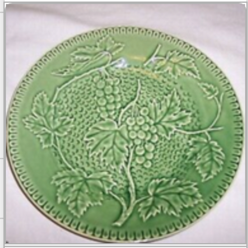 Vintage Bordallo Pinheiro Grapevine Dessert/Salad Plate, Set of 4