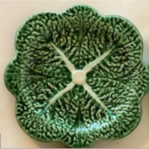 "7.0"" Bordallo Pinherio Cabbage Dessert Plate, Set of 4"
