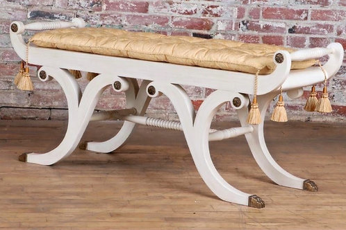 Regency Style Painted Bench