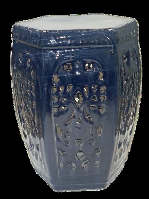 Cobalt Ceramic Garden Stool