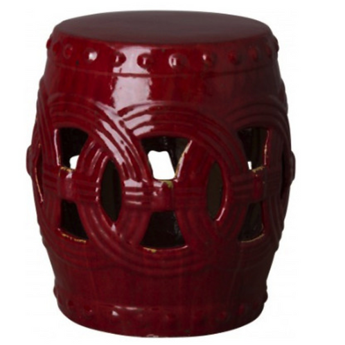 Circle Garden Stool Ox blood