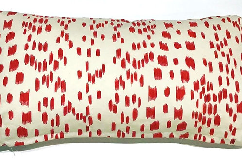 Red Les Touches Lumbar Pillow