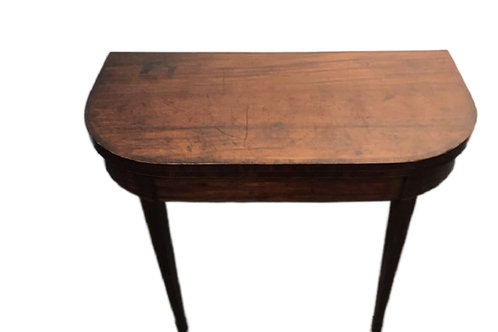 George III Mahogany Game Table