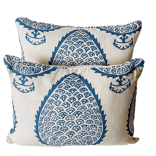 Katie Ridder Leaf Print Lumbar Pillow Pair