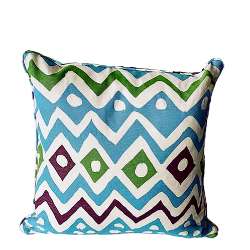 Quadrille Cap Ferrat Fabric Pillow