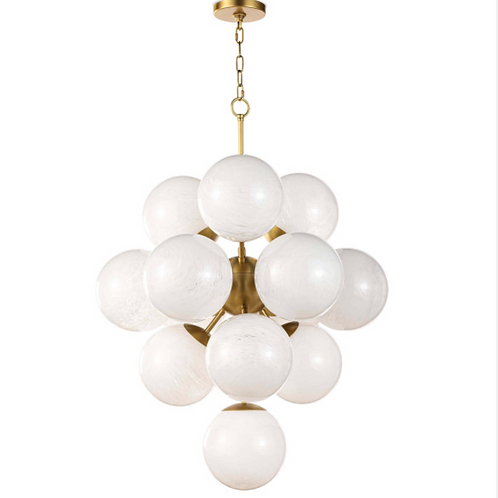 Frosted Glass Globe Chandelier