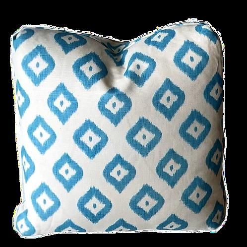 Quadrille Bali Diamond Turquoise Pillow