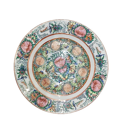 Canton Famillie Rose Plates (set of 4)