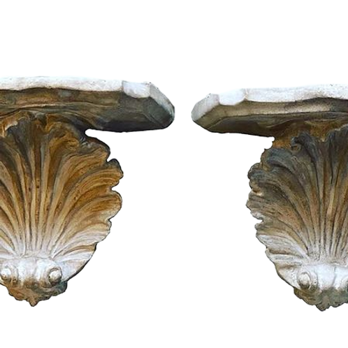 Cerused Shell Wall Brackets