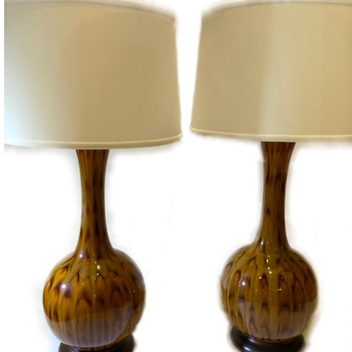 """Vintage """"Feather"""" Style Table  Lamps"""