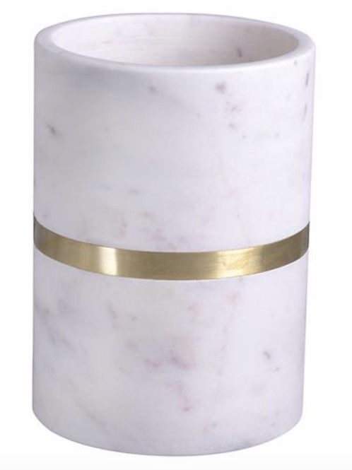 Marble Wine Cooler with Brass Banding