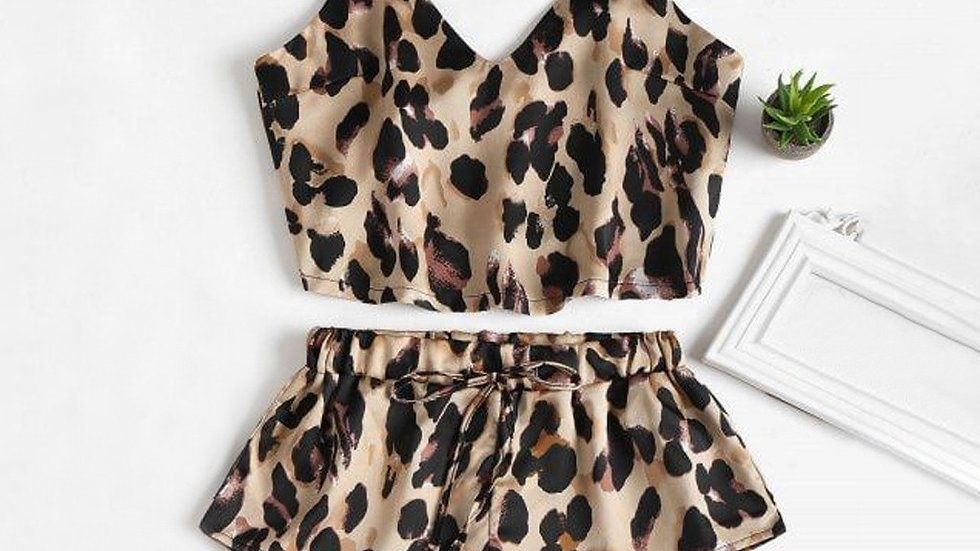 Leopard Sleepwear Lingerie