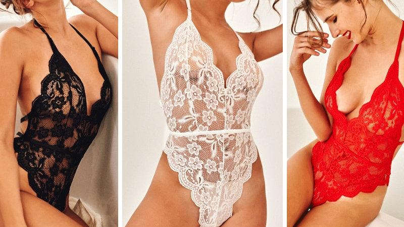 Sexy Plus Size Women Lingerie Lace See-Through Erotic Underwear Lingerie