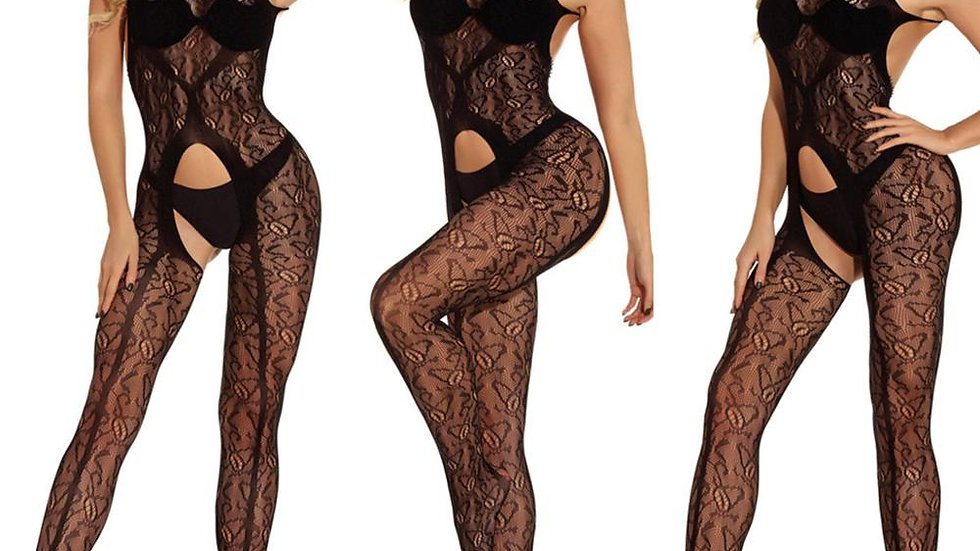 Lingerie Sexy Women Clothing Black Crotchless