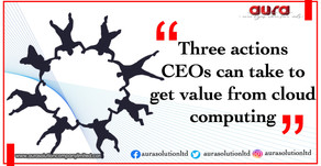 Three Actions CEOs can take to get value from cloud computing : Aura Solution Company Limited