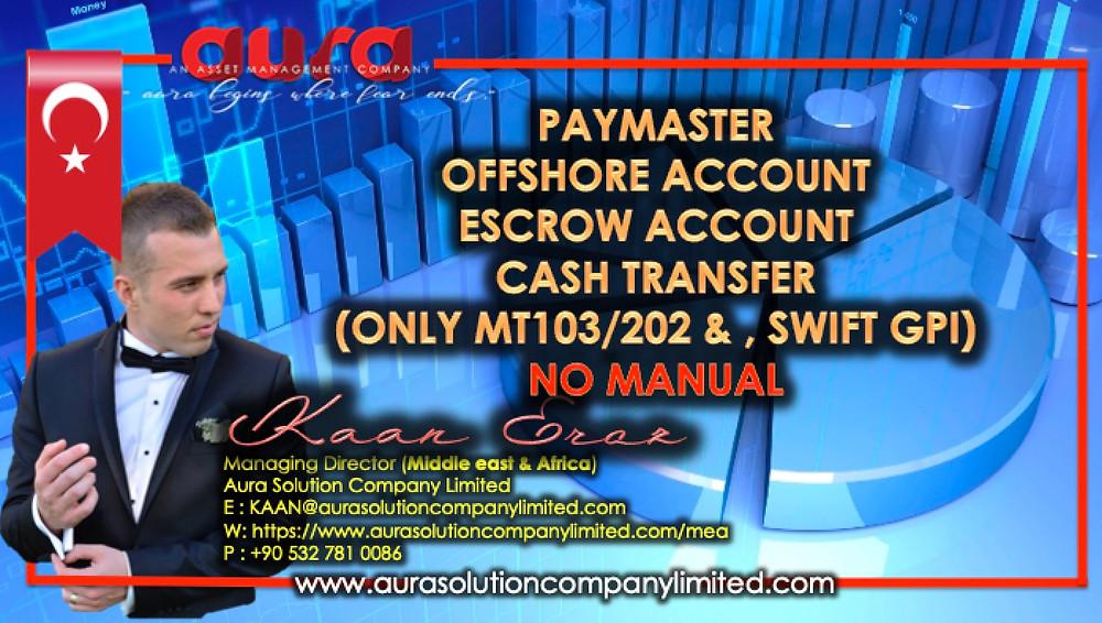 Paymaster, Emanet ve Komisyon Dağıtım Hizmetleri: Aura Solution Company Limited