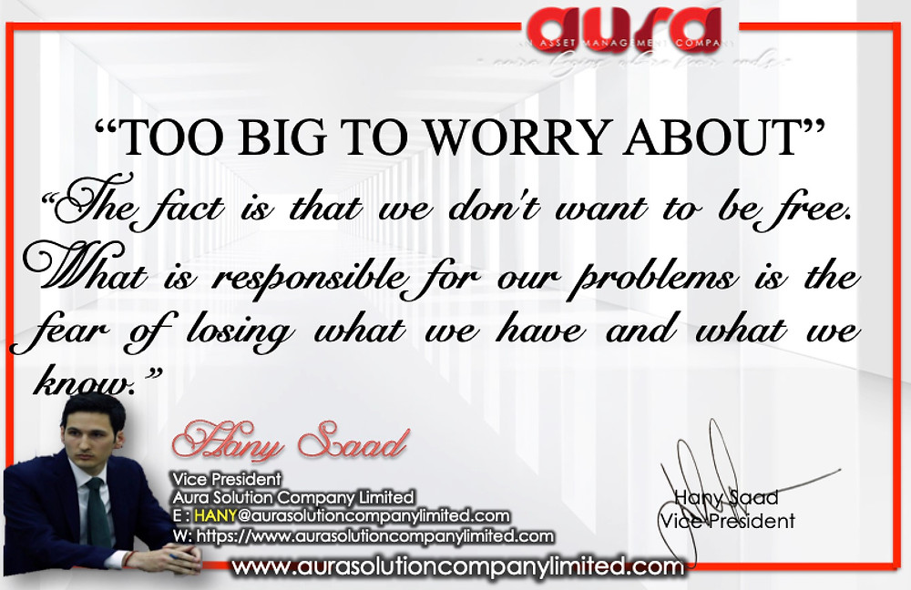 Too Big to Worry about Failing : Aura Solution Company Limited