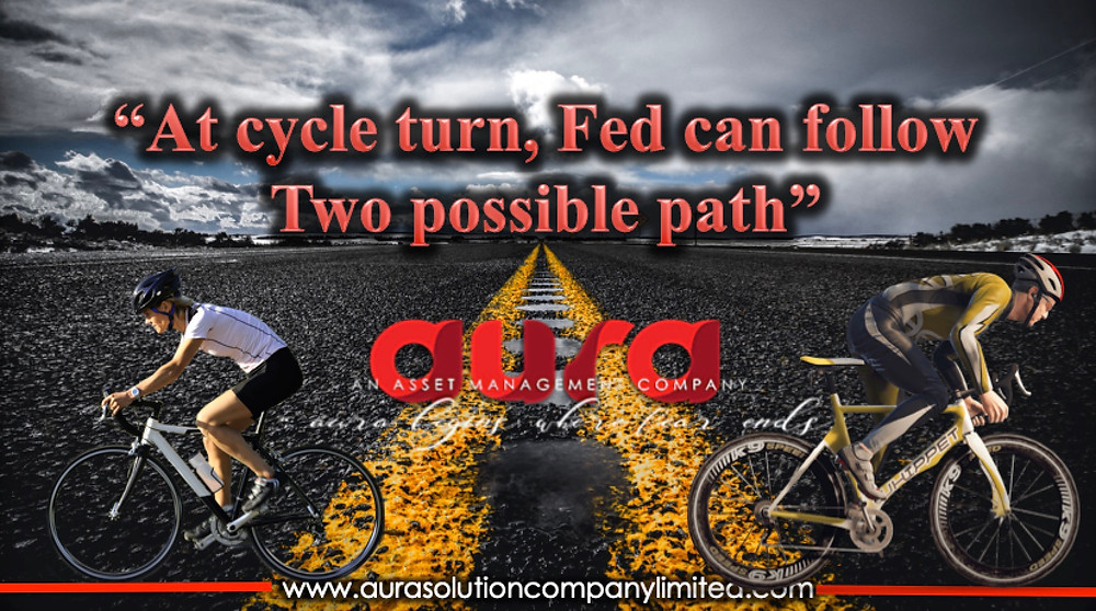At cycle turn, Fed can follow two possible paths : Aura Solution Company Limited