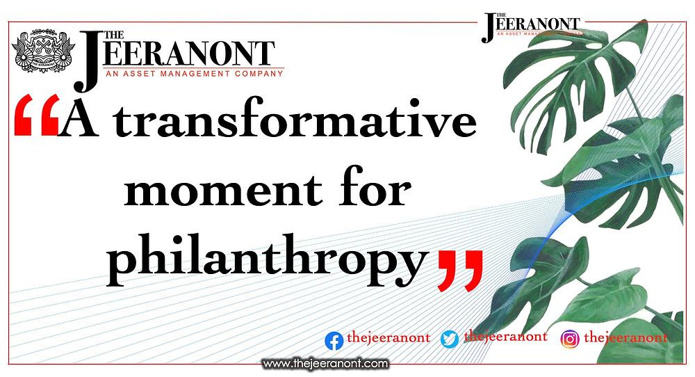Преобразующий момент для филантропии: The Jeeranont