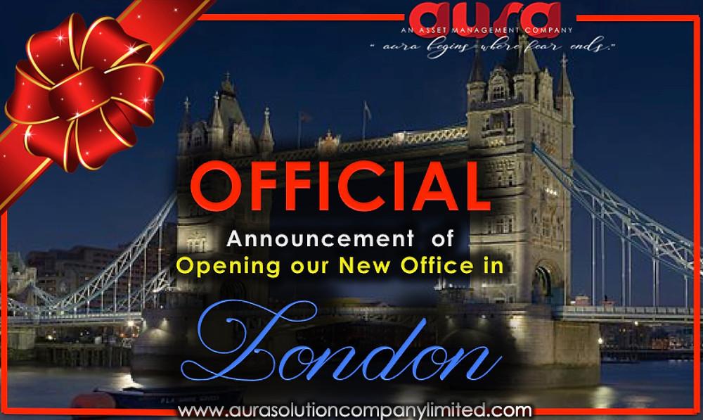 الإعلان عن افتتاح مكتب فرعي جديد في لندن إنجلترا. شركة هالة الحل المحدودة.